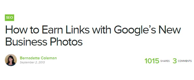 How to Earn Links with Googles Business Photos
